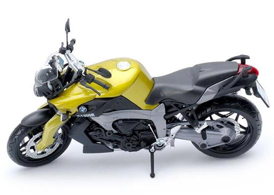 1:12 Scale Yellow / Golden / Orange / Black /Gray BMW K1300R Toy
