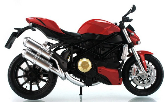 1: 12 Scale Red / White / Black Kids DUCATI StreetFighter Motor