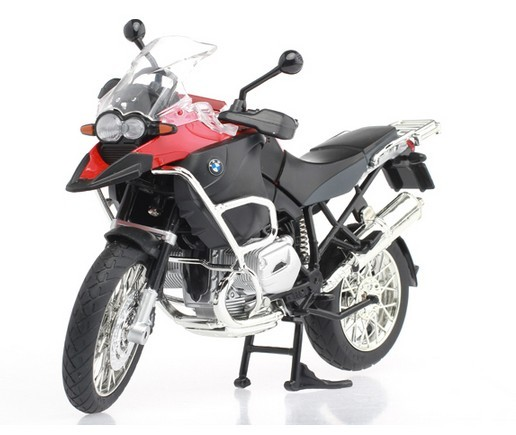 Kids 1: 9 Scale Gray / White / Red BMW R1200GS Motor Toy