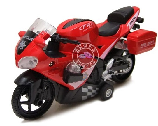Kids Blue / Red / White Police Motor Toy