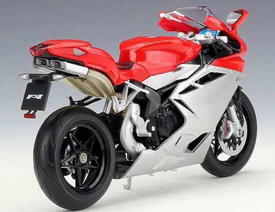 Welly MV AGUSTA F4 Motorcycle 1:10 Scale Red / Black