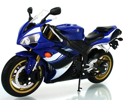 Welly 1:10 Scale Blue / Black Yamaha YZF R1 Motor
