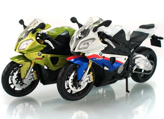 Maisto BMW S1000RR Motor 1:12 Scale Blue-White / Yellow