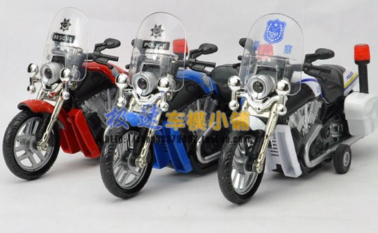 Pull-Back Function Kids Red /Blue /White Die-cast Motorcycle Toy