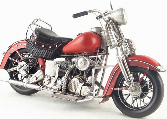 Tinplate 1939 Harley Davidson EL 1000 Large Scale Motorcycle