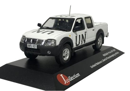 White 1:43 J-collection UN Peacekeeping Diecast Nissan Pickup
