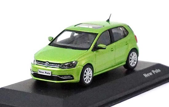 Green / Red 1:43 Scale Diecast 2014 VW New Polo Model