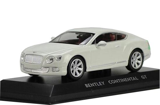 White 1:43 Scale Diecast Bentley Continental GT Model