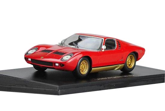 Red / Yellow 1:43 Scale Die-Cast Lamborghini Miura P400SV Model