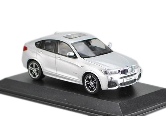 White / Silver / Black / Red 1:43 Scale Diecast BMW X4 Model