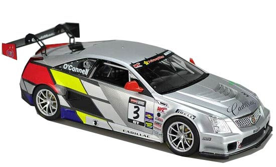 Silver 1:18 Rally Racing Edition Diecast Cadillac CTS Model