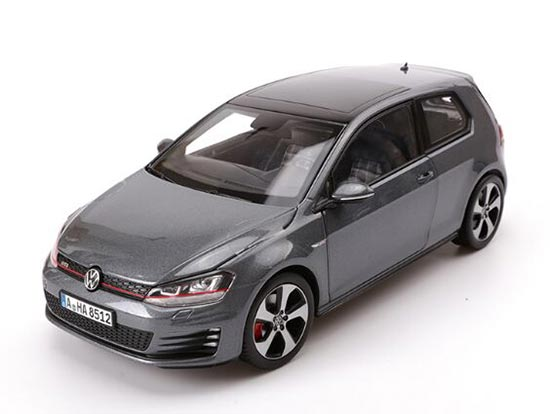 White / Gray 1:18 Scale Norev Diecast VW Golf GTI Model