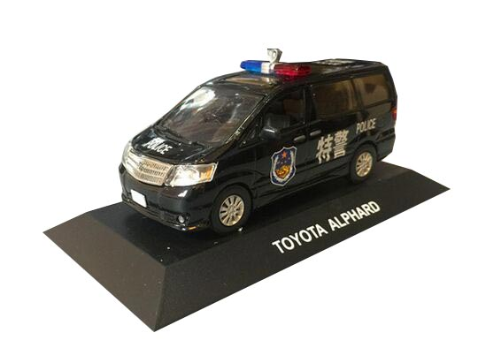 Black 1:43 Police J-collection Die-Cast Toyota Alphard Model