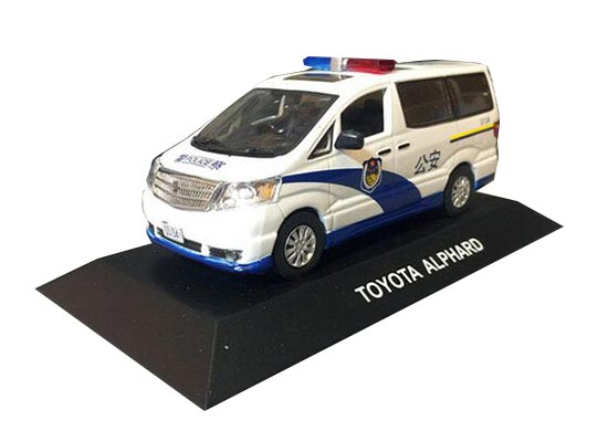 White 1:43 J-collection Police Die-Cast Toyota Alphard Model