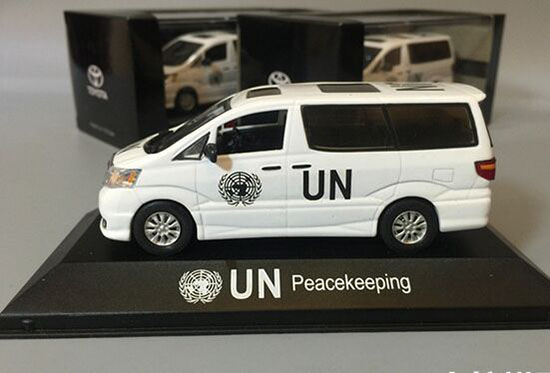 White 1:43 UN Peacekeeping Die-Cast Toyota Alphard Model