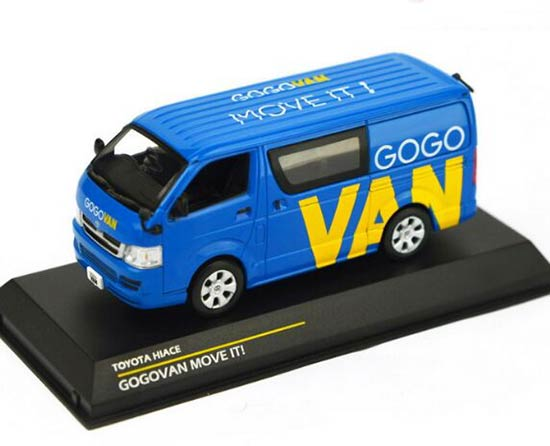Blue 1:43 Scale TINY Die-Cast Toyota HIACE GOGOVAN