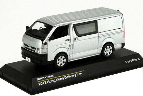 Silver 1:43 TINY Hong Kong Delivery Diecast Toyota HIACE