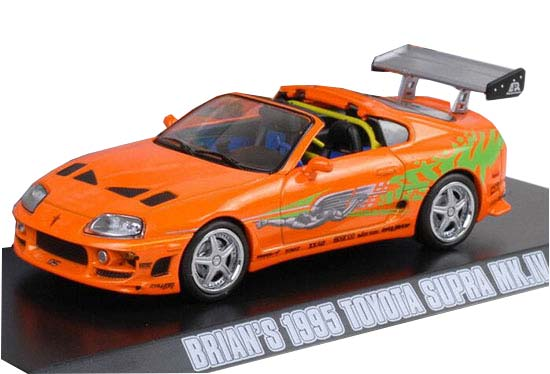 Orange 1:43 GreenLight Diecast Toyota Supra MK IV Model