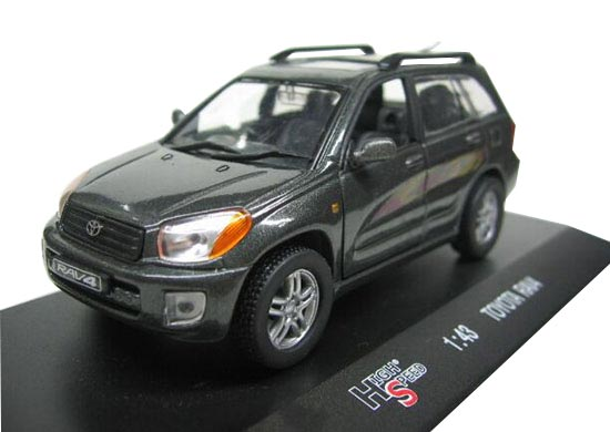 Black 1:43 Scale HighSpeed Diecast Toyota RAV4 Model