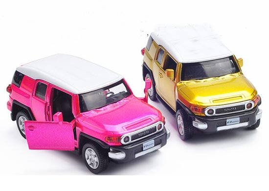 Golden / Pink 1:43 Scale Kids Diecast Toyota FJ Cruiser Toy