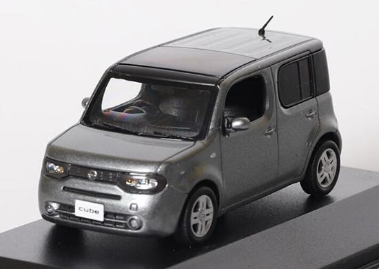Gray 1:43 Scale Diecast Toyota Cube Toy