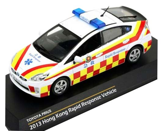 1:43 Scale TINY Rapid Response Die-cast 2013 Toyota Prius Model