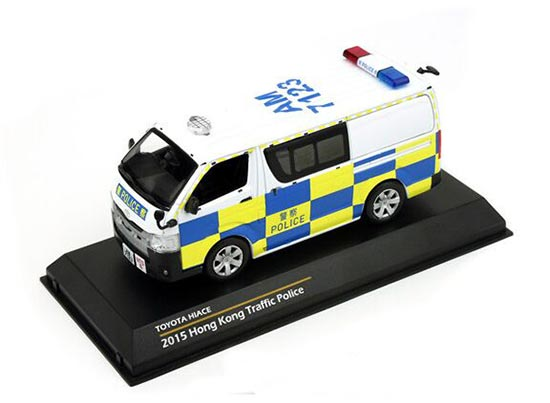 TINY 1:43 Scale Hong Kong Traffic Police Diecast Toyota HIACE