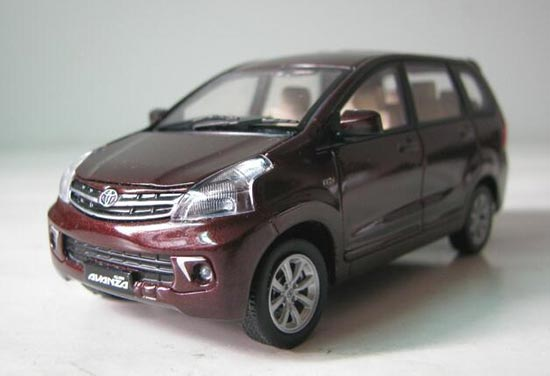 Black 1:43 Scale 2011 Diecast Toyota Avanza Model