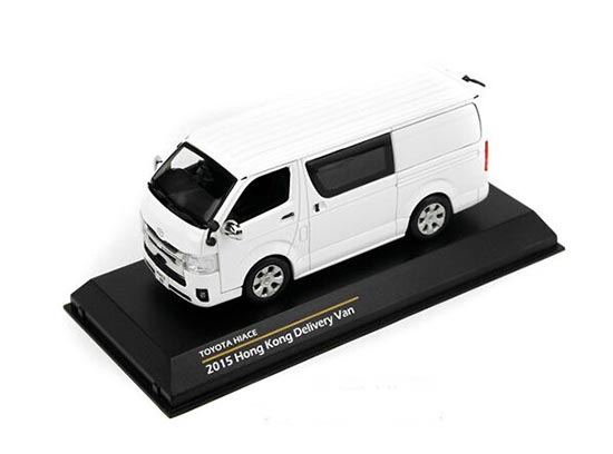 1:43 Scale Black / White TINY Diecast Toyota HIACE Model