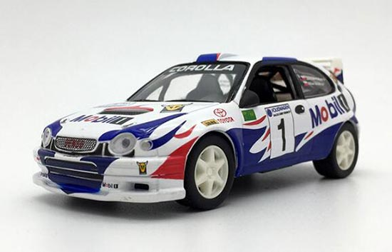 HighSpeed 1:43 Scale Colorful Painting Diecast Toyota Corolla
