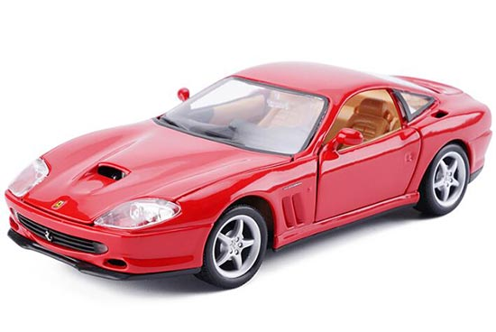 Red 1:24 Scale Bburago Diecast Ferrari 550 Maranello Model