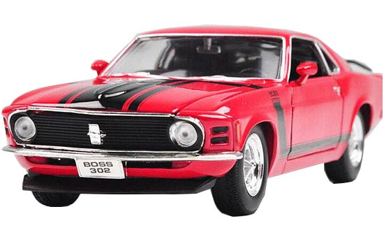 Red Welly 1:24 Scale Diecast 1970 Ford Mustang Boss 302