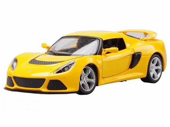 White / Yellow 1:22 Scale Diecast Lotus Exige S Model
