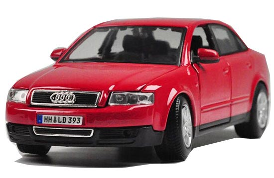 Red / Blue / Black 1:24 Scale Maisto Diecast Audi A4 Model