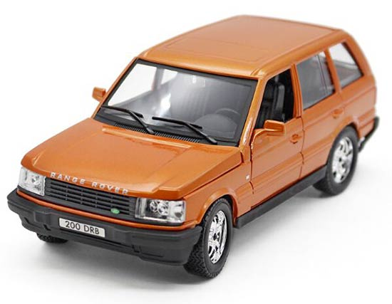 Silver / Orange 1:24 Scale Bburago Diecast Range Rover Model