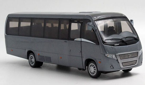 Gray 1:42 Scale Die-Cast VOLARE Bus Model