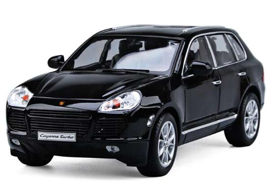 Black 1:18 Scale Welly Diecast Porsche Cayenne Turbo Model