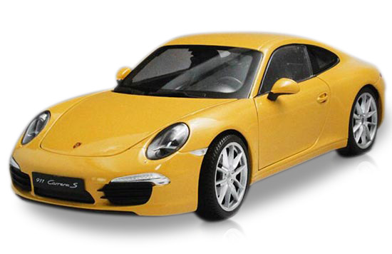 Black / Red / Yellow 1:18 Welly Diecast Porsche 911 Carrera S