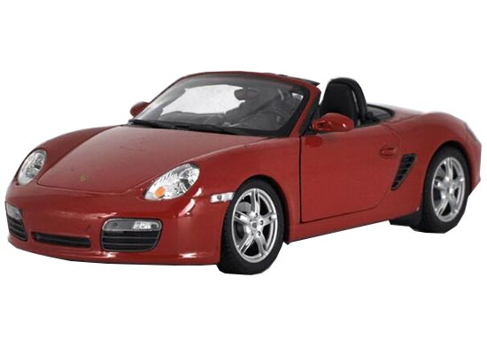 White / Red / Black 1:18 Welly Diecast Porsche Boxster S Model