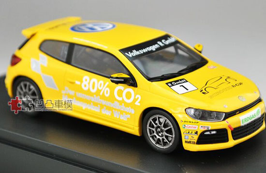 Yellow 1:43 Scale Norev Diecast VW Scirocco R-Cup Model