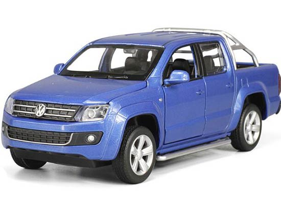 Red / White / Blue 1:30 Kids Diecast VW Amarok Pickup Truck Toy