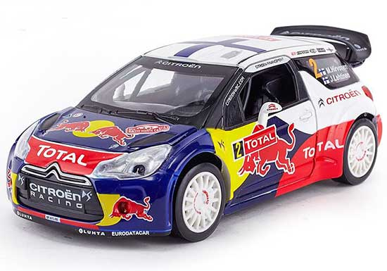 1:26 Scale Kids NO.2 Diecast 2013 WRC Citroen DS3 Toy