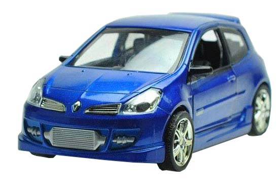 Red / Blue Kids 1:32 Scale Diecast Renault Clio Toy