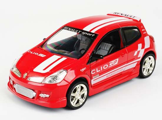 Red / Yellow 1:32 Scale Kids Diecast Renault Clio Toy
