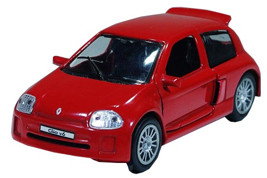 Kids Pull Back Function 1:32 Die-Cast Renault Clio V6 Toy