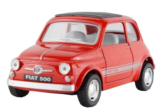1:36 Red / Blue / Sky Blue / Black Kids Diecast FIAT 500 Toy