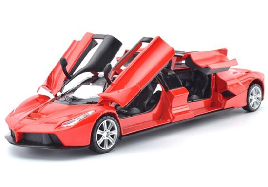 Kids Long Size Red / Purple / Yellow Diecast Ferrari Toy