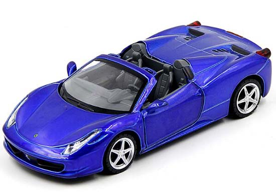 blue red white yellow 132 die cast ferrari 458 italia toy - Ferrari 458 Blue And White