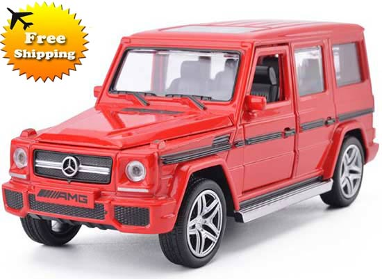 1:32 Red / White / Light Blue Diecast Mercedes-Benz G65 AMG Toy