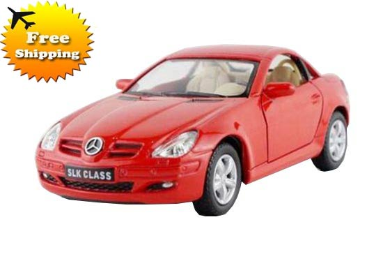 Red / Silver 1:36 Scale Kids Diecast Mercedes-Benz SLK 350 Toy